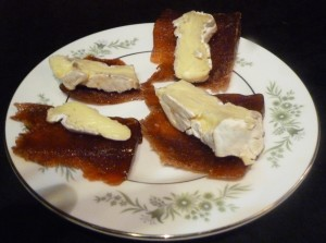 Quince paste with camembert