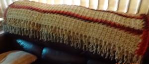 Blanket which took 1.2kg wool